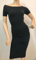 Two Piece Set Black Pencil Skirt And Top