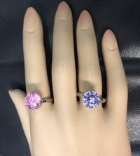 Colored Diamond Two Pack Rings