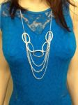Multi Length Necklace With Circle Accents-Two-Pack