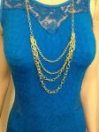 Two Pack Multi Strand Necklace Set Gold and SIlver