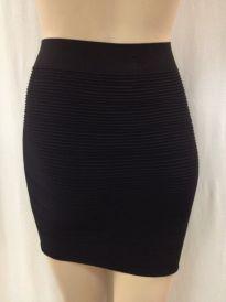Black Ribbed Mini Skirt Crossdressing Transgender And